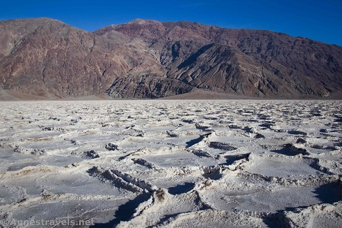Walking east toward the Black Mountains, Death Valley National Park, California