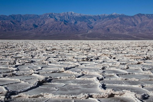Views to Telescope Peak over Badwater Basin, Death Valley National Park, California