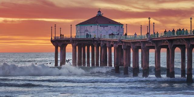 manhatten beach pier, los angeles, california