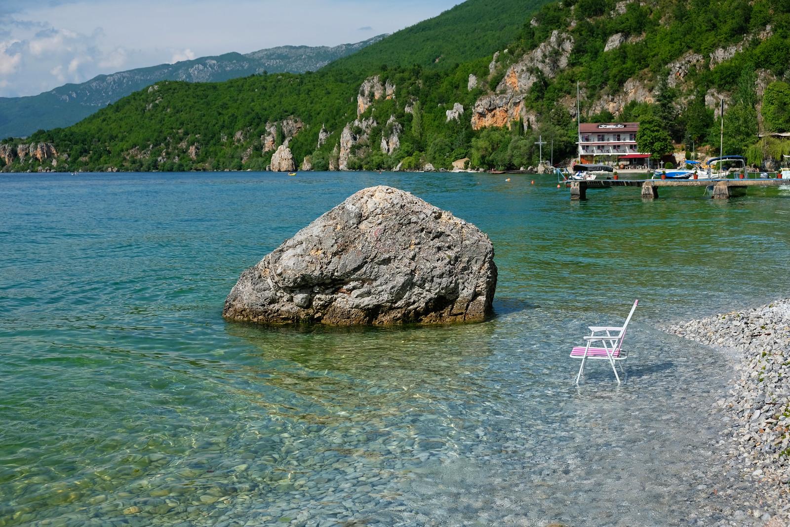 Trpejca Beach, Lake Ohrid, North Macedonia