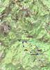 Carte IGN de la vallée du Cavu avec l'itinéraire du trail du 20/06/2021 et les postes d'orientation