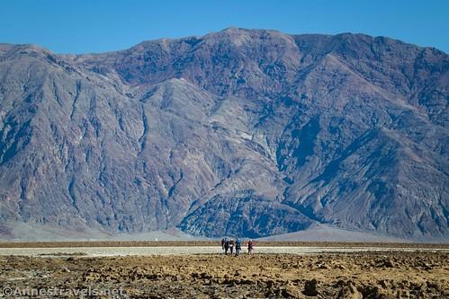 Hiking back toward Badwater Basin, Death Valley National Park, California
