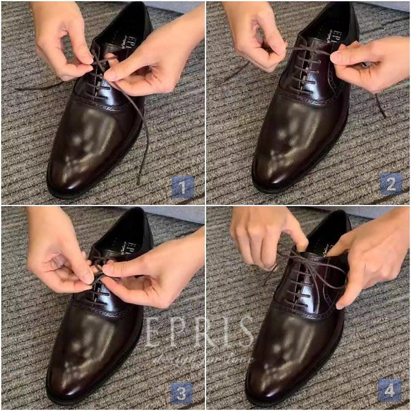 男鞋鞋帶綁法教學