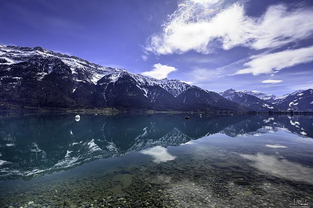 Lake Brienz with Reflection - Ringgenberg - Bern - Switzerland