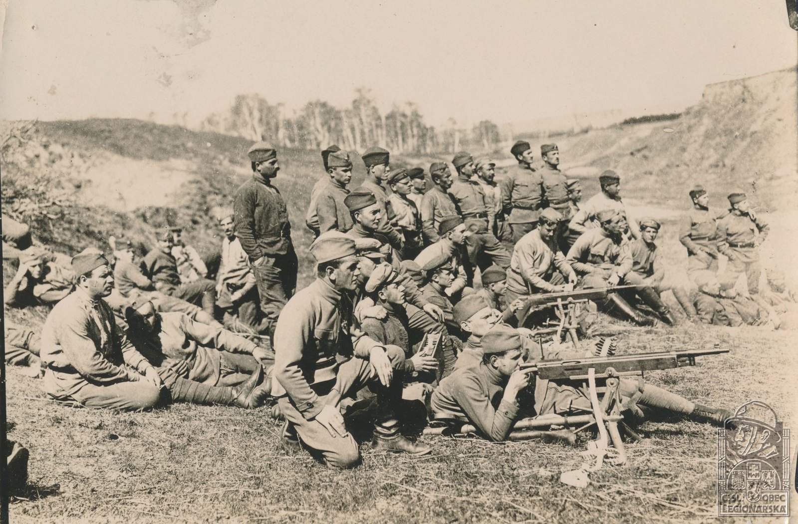 07. 1918. Пристрелка пулемётов Кольт-Браунинга M1895