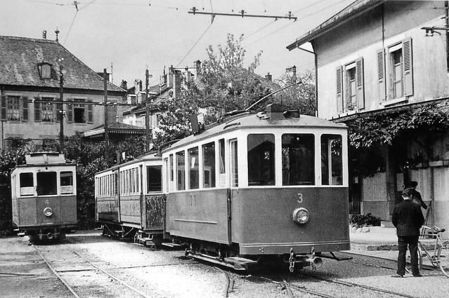 Trains de l'Allaman Aubonne Gimel (Suisse)