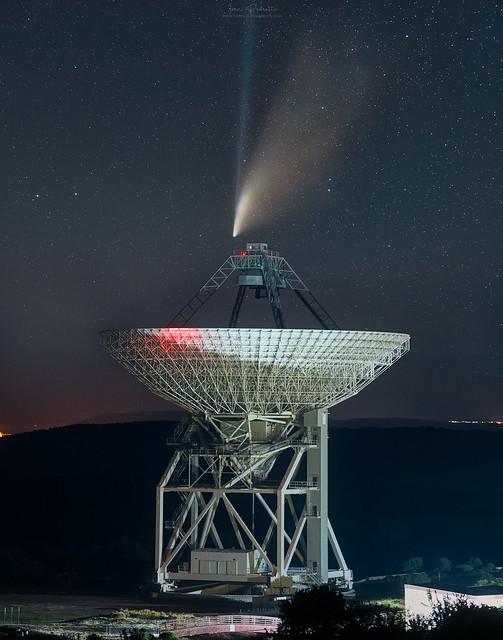 Cometa Neowise: Ivan Pedretti. Sardina Radio Telescope.