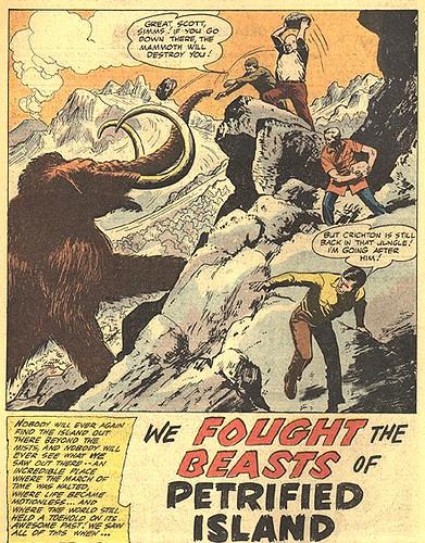 My Greatest Adventure #44 / We fought the Beasts of Petrified Island // splash panel