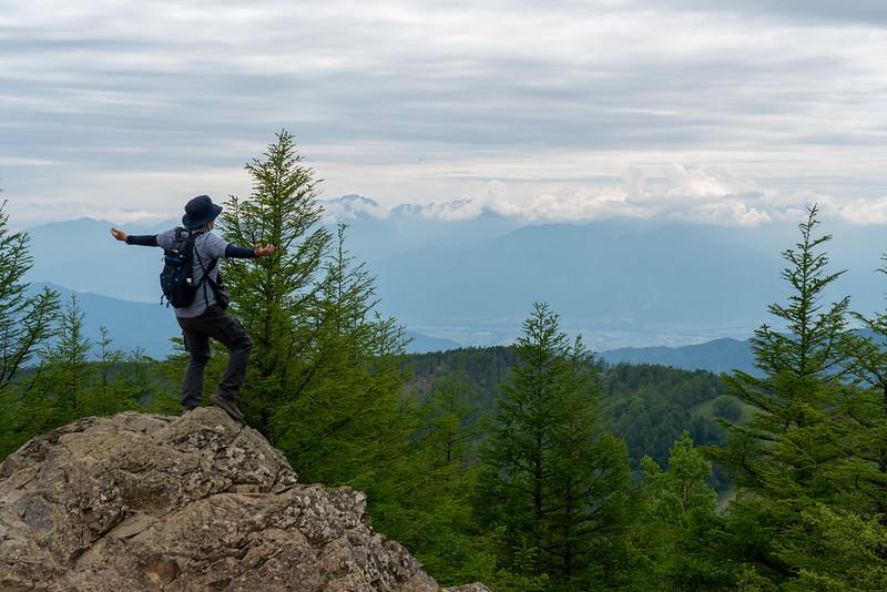 入笠山の山頂