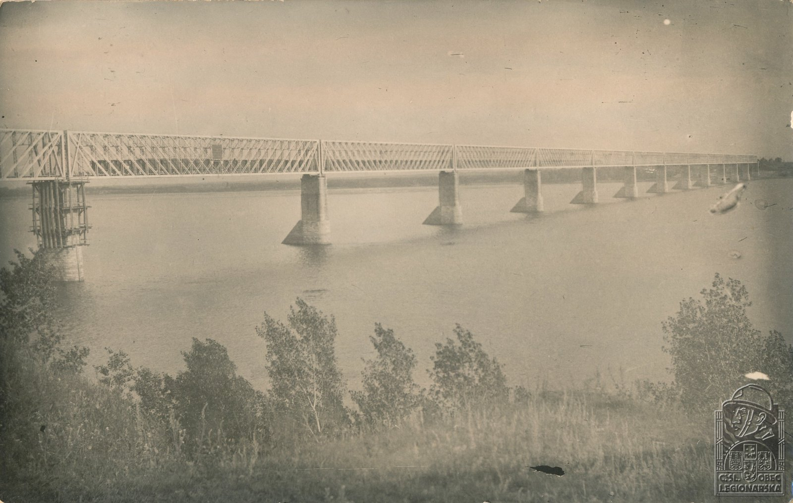 10. 1918. Мост через Волгу