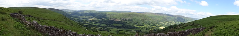 Llanthony Priory & Hatterrall Ridge circular walk: Vale of Ewyas and the Brecon Beacons, bordered by Hatterrall Hill south and north
