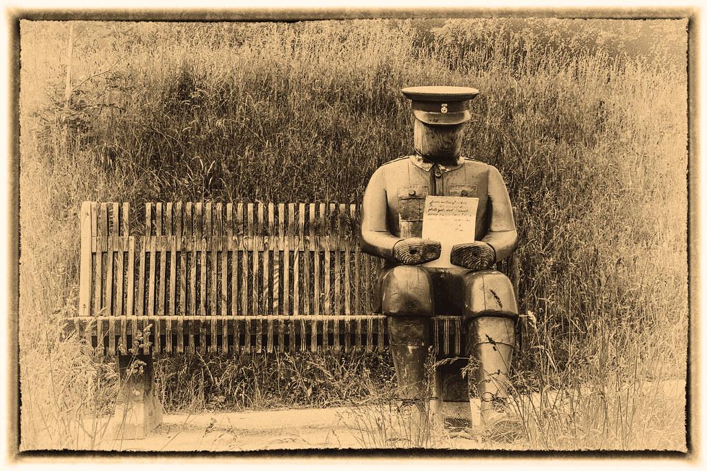 2021 - 06 - 24 - EOS 600D - Letters from Home - WW1 Soldier - Wooden Sculpture - Wales Coast Path - Dee Estuary - Flintshire - 1200
