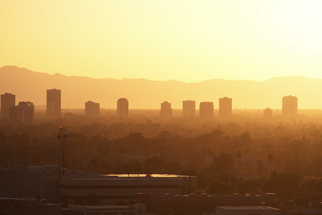 Midtown Phoenix Buildings in Afternoon Haze