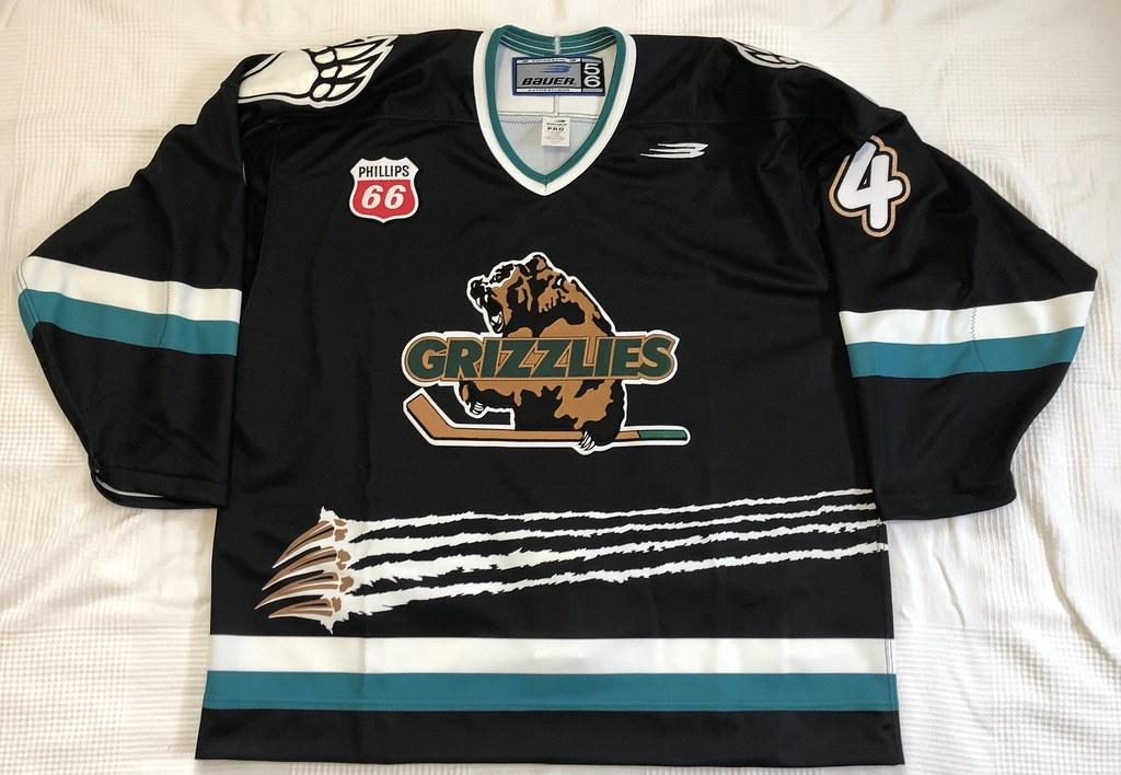 1999-2000 Zarley Zalapski Utah Grizzlies Authentic Away Jersey Front