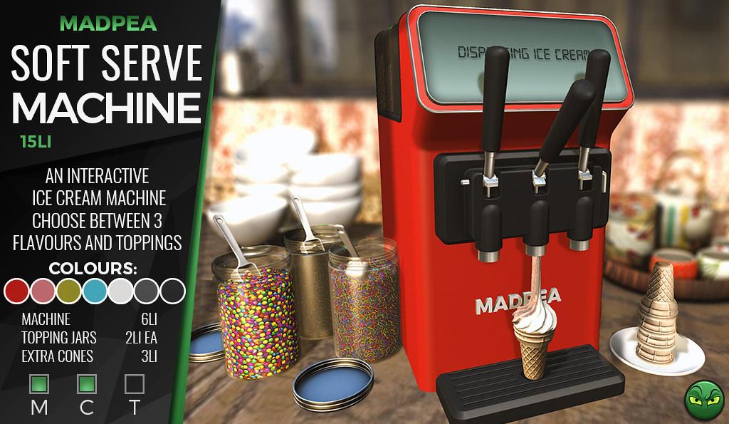 MadPea Soft Serve Machine **GIVEAWAY**