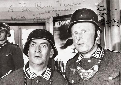 Louis de Funès and Bourvil in La grande vadrouille (1966)