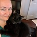 Raven snuggling me in my office