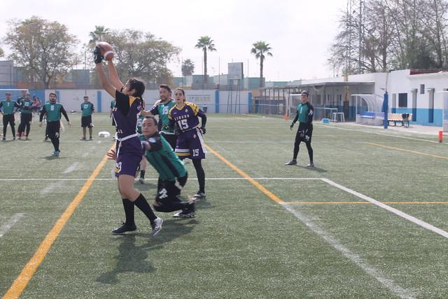 Instantánea de uno de los partidos de Sevilla Linces Flag en la pasada V LAFF - Autor Sevilla Linces.