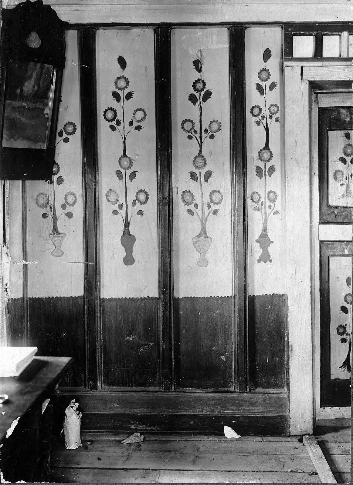 Раскраска переборки в крестьянской избе в Канском уезде