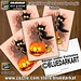 :jack_o_lantern: #Cat #Fun #Halloween #Character scared by a #Pumpkin  #Postcards :jack_o_lantern: Cat #Character #design under #exclusive :copyright: #BluedarkArt #TheChameleonArt :point_right: www.zazzle.com/cat_fun_halloween_character_scared_by_a_pumpk