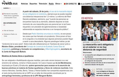 Cuarta participación en la Tertulia Social de Ganbara de Radio Euskadi en 2021