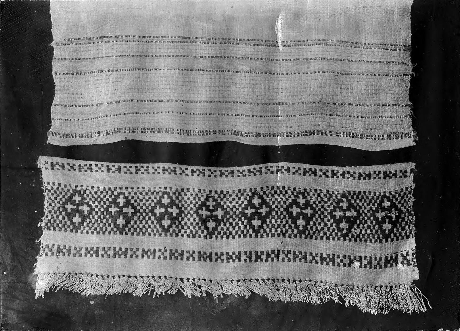 Образцы полотенец с концом, выполненным по «рефету» и концом, выполненным бранью
