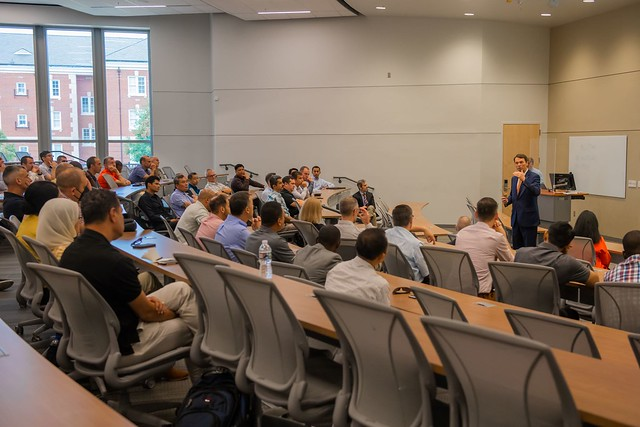 Auburn Provost Bill Hardgrave speaks to a group of international military officers