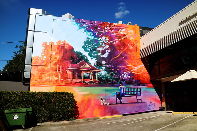 Colorful Country Themed Mural In The City