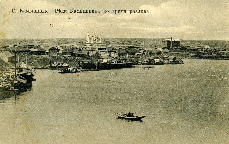 Вид на правый берег Камышинки от ее устья