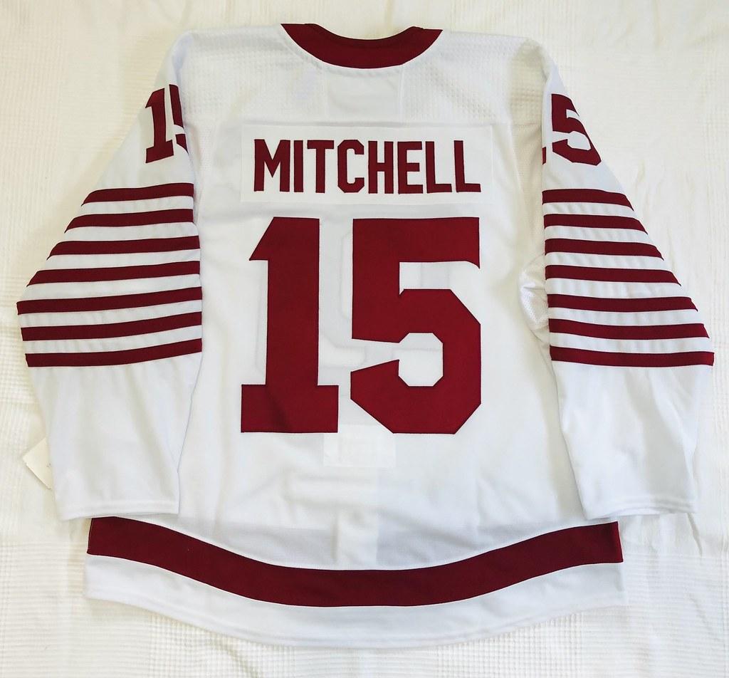 2019-20 Ian Mitchell University of Denver Pioneers Alternate Jersey Back