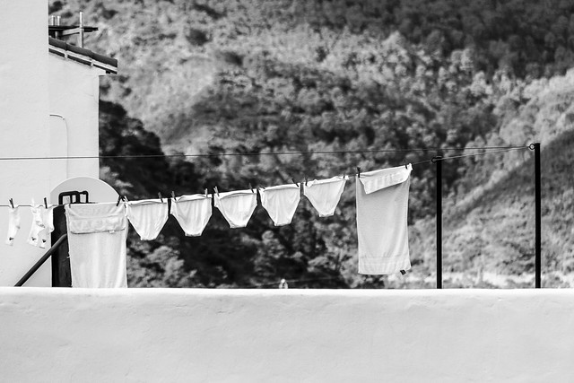 Spain - Malaga - Istan - El Coto - Laundry day