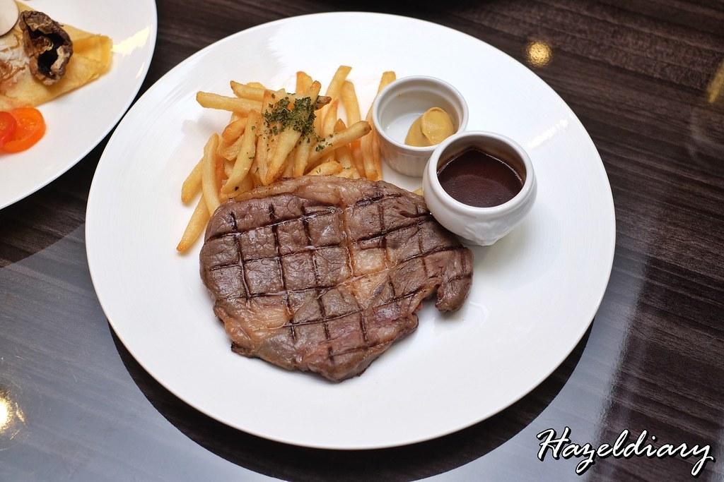 cafe aux bacchanales- 250g Ribeye Steak Frites Sauce Bordelaise