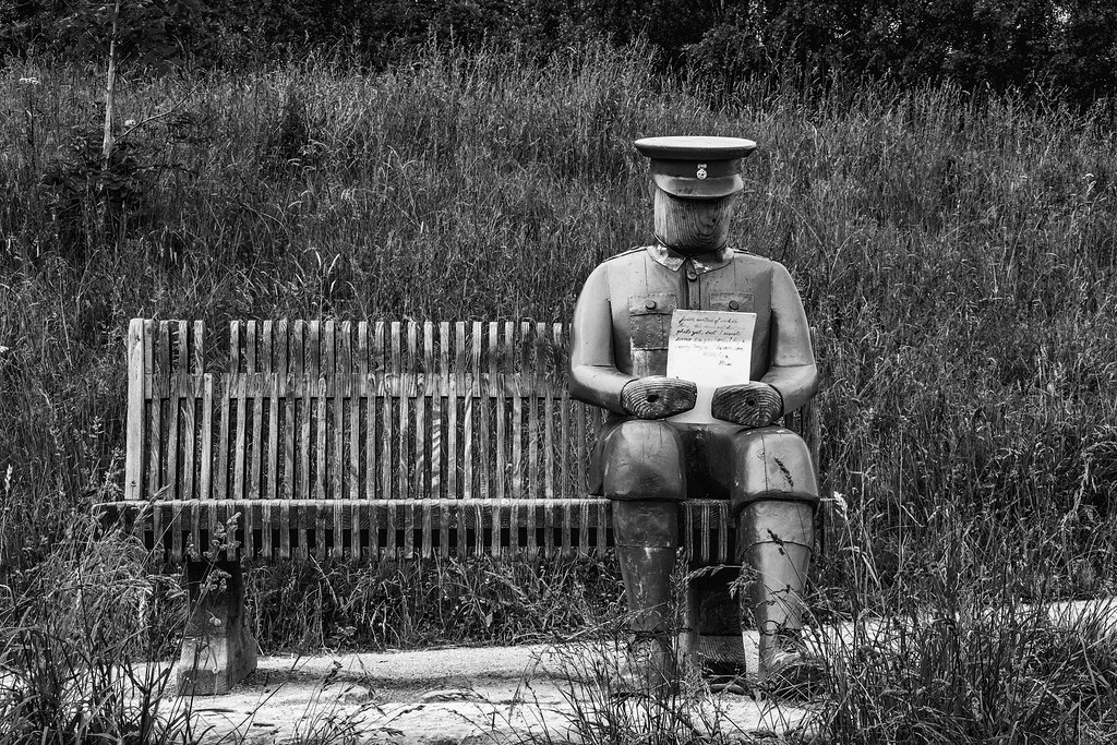 2021 - 06 - 24 - EOS 600D - Letters from Home - WW1 Soldier - Wooden Sculpture - Wales Coast Path - Dee Estuary - Flintshire - 1000