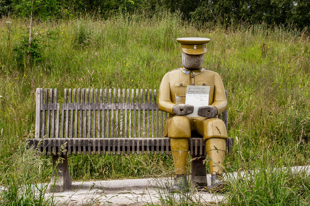 2021 - 06 - 24 - EOS 600D - Letters from Home - WW1 Soldier - Wooden Sculpture - Wales Coast Path - Dee Estuary - Flintshire - 000