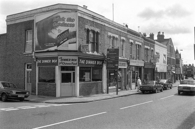 The Dinner Box, Trinity Rd, Chetwood Rd, Tooting Bec, Wandsworth, 1990, 90-9a-46