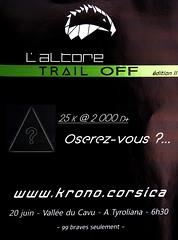 """Affiche Altore Trail """"Off"""" 2ème édition pour la course du 20/06/2021"""