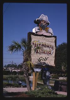 Sign, Treasure Island Golf, Myrtle Beach, South Carolina (LOC)