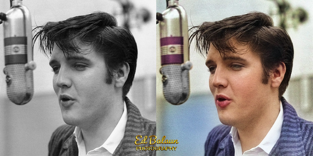 Colorized Young Elvis