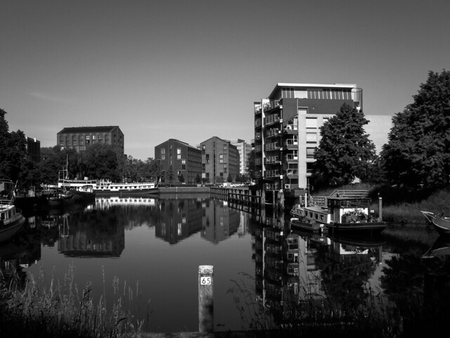 My view on the City Canal IV. Zwolle