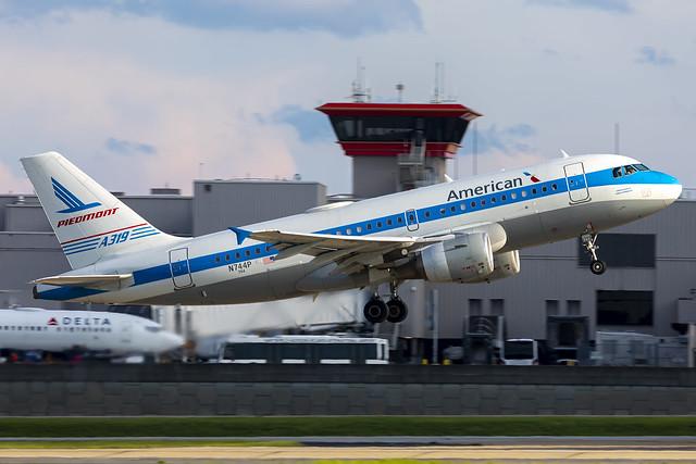 N744P - Airbus A319-112 - American - KATL - June 2021