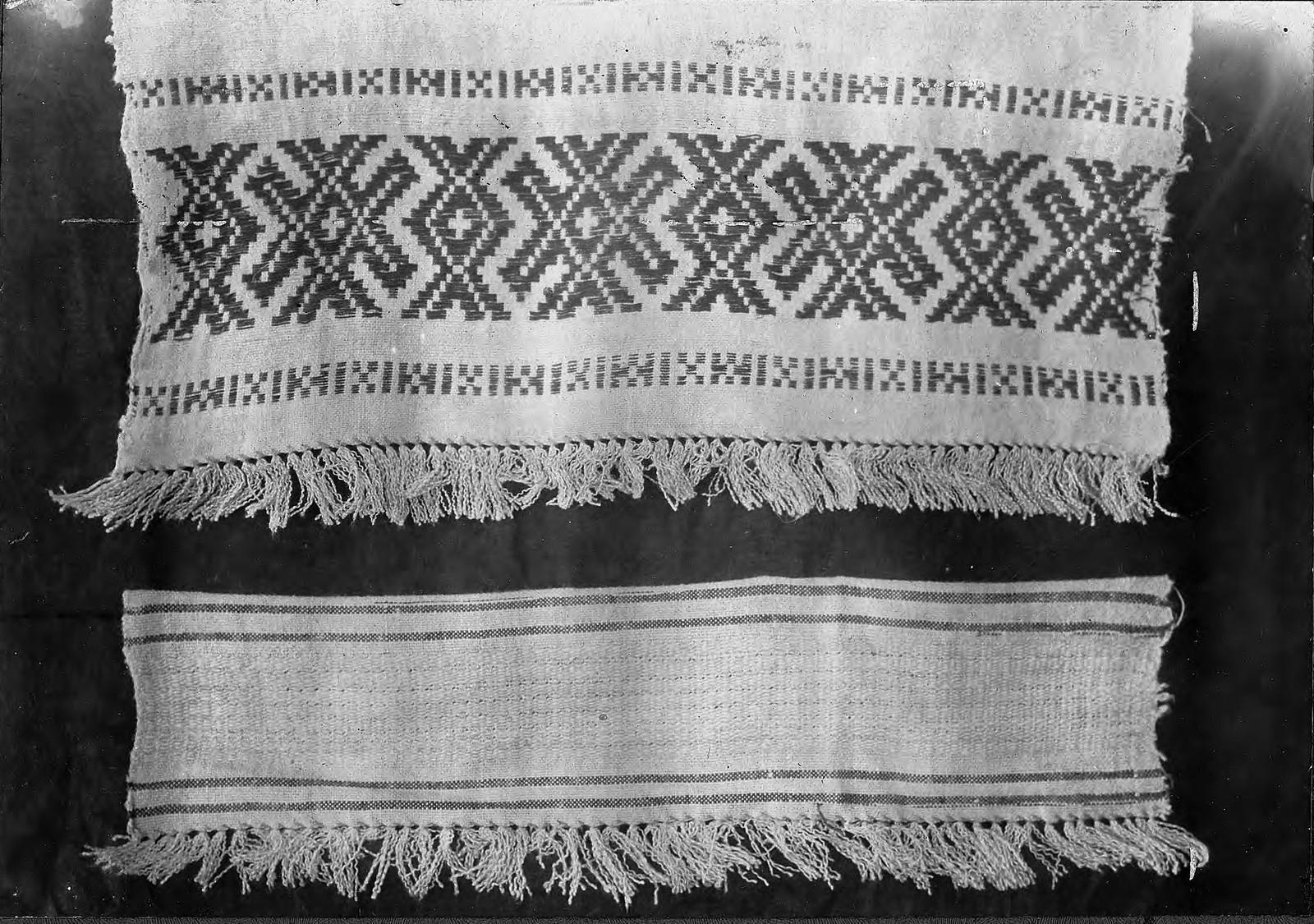 Образцы полотенец с браными концами