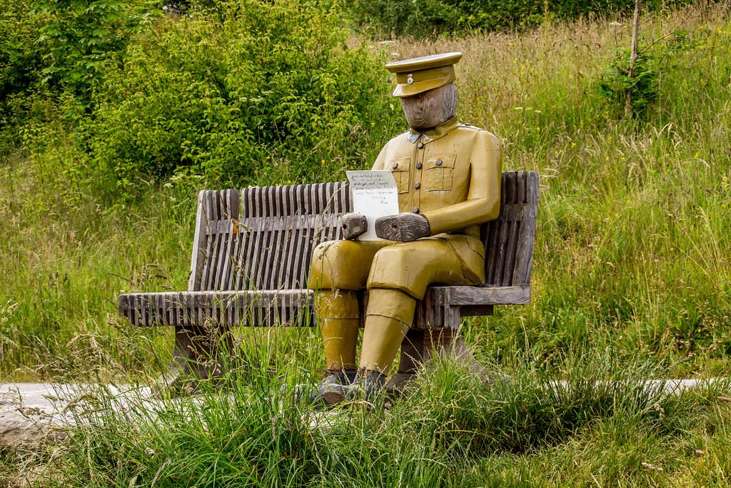 2021 - 06 - 24 - EOS 600D - Letters from Home - WW1 Soldier - Wooden Sculpture - Wales Coast Path - Dee Estuary - Flintshire - 002
