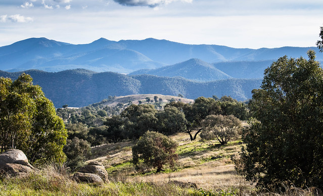 Mountain view The Brindabella range from the ACT