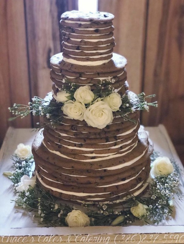 Chocolate Chip Cookie Wedding Cake by Tricia Chace of Chace's Cakes & Catering, LLC
