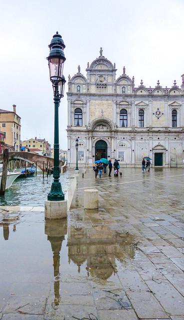 Scuola Grande di San Marco in the rain