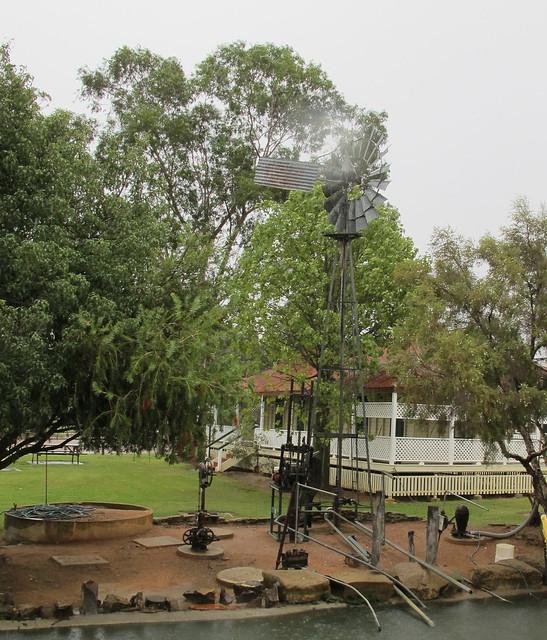 Windmill from Verandah Blackall Railway station museum