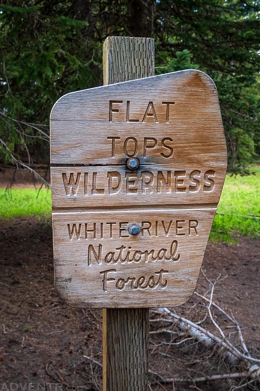 Flat Tops Wilderness Sign