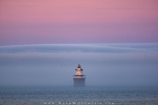 Spark Plug Foggy Sunset