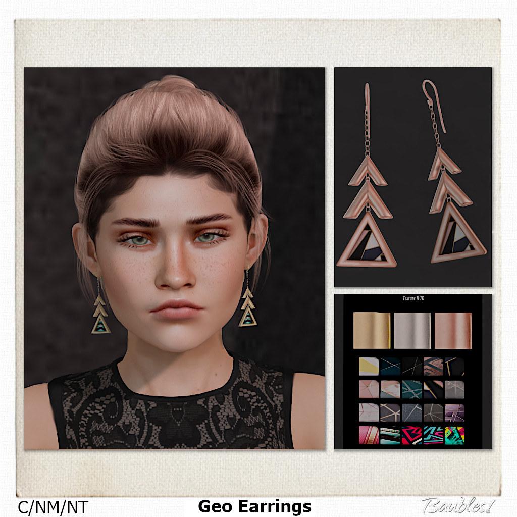 Geo Earrings Promo
