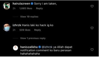 Keknis Tak Tulis Macam Ni, Hijack Instagram Hanis Zalikha, Hairul Azreen Post Foto Puji Diri Sendiri